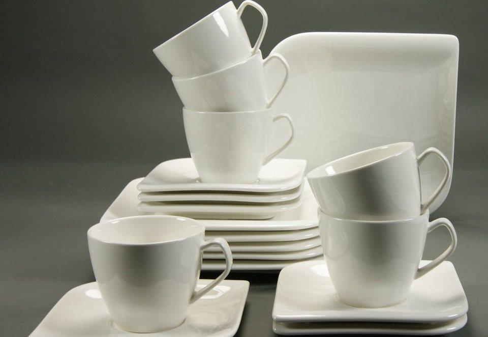 Kaffeeservice, Porzellan, »NEW PACIFIC« in creme-weiß