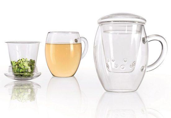 Creano Glas »all-in-one«, Glas, Mit Sieb