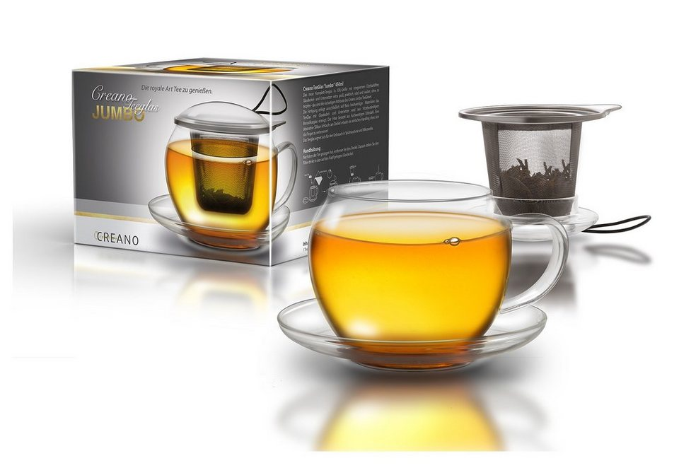 Creano TeeGlas, 450 ml, »Jumbo« in transparent