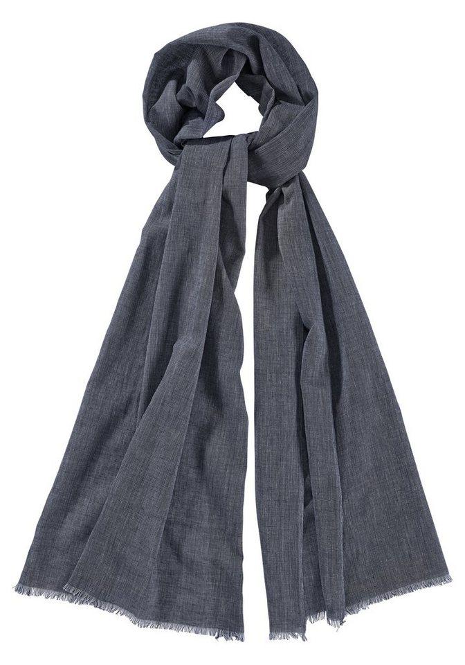 J. Jayz Modeschal mit attraktiver Fransenkante in jeans