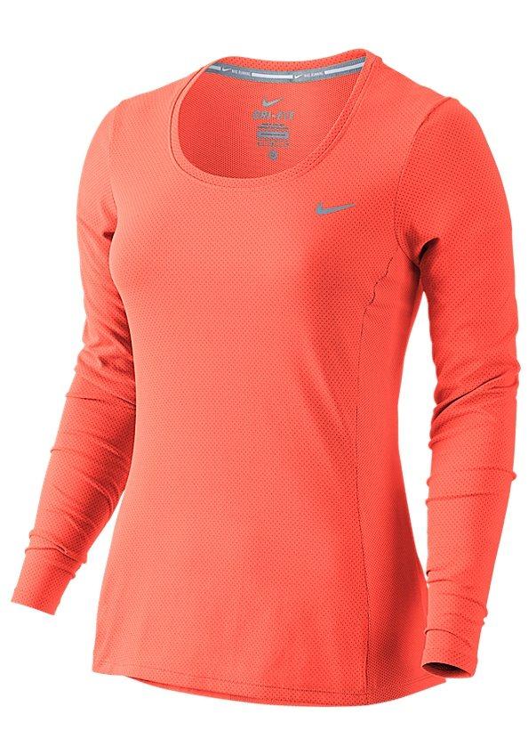 Nike Laufshirt in Koralle