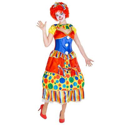 tectake Clown-Kostüm »Frauenkostüm Clown Fridoline«