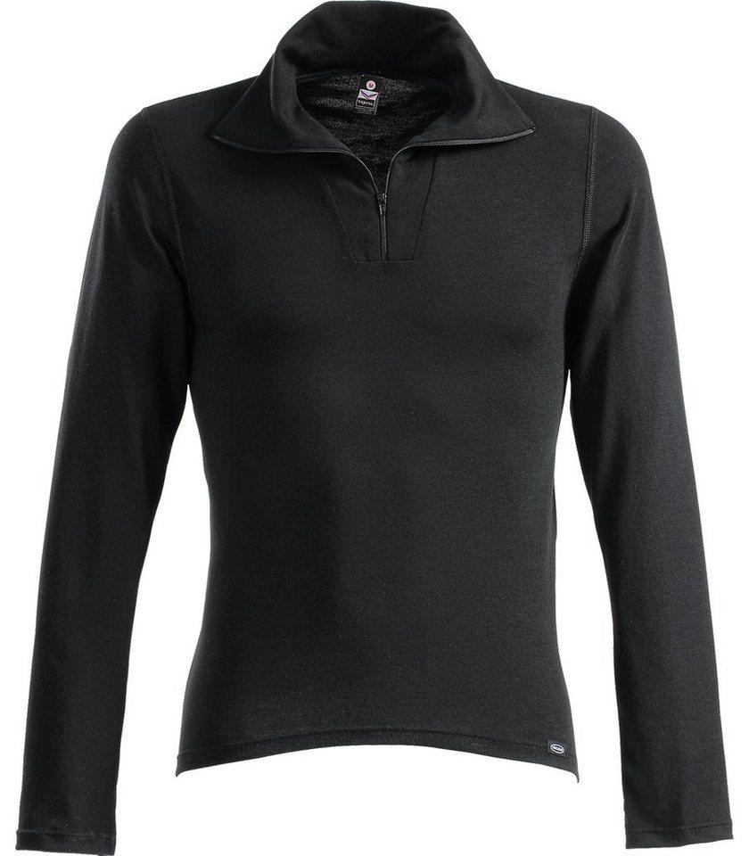 TRIGEMA Langarm Ski/Sport Shirt in schwarz