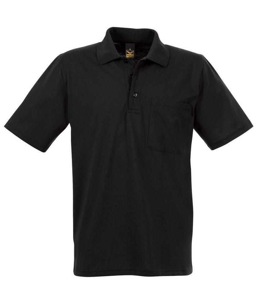 TRIGEMA Polo-Shirt mit Brusttasche in schwarz