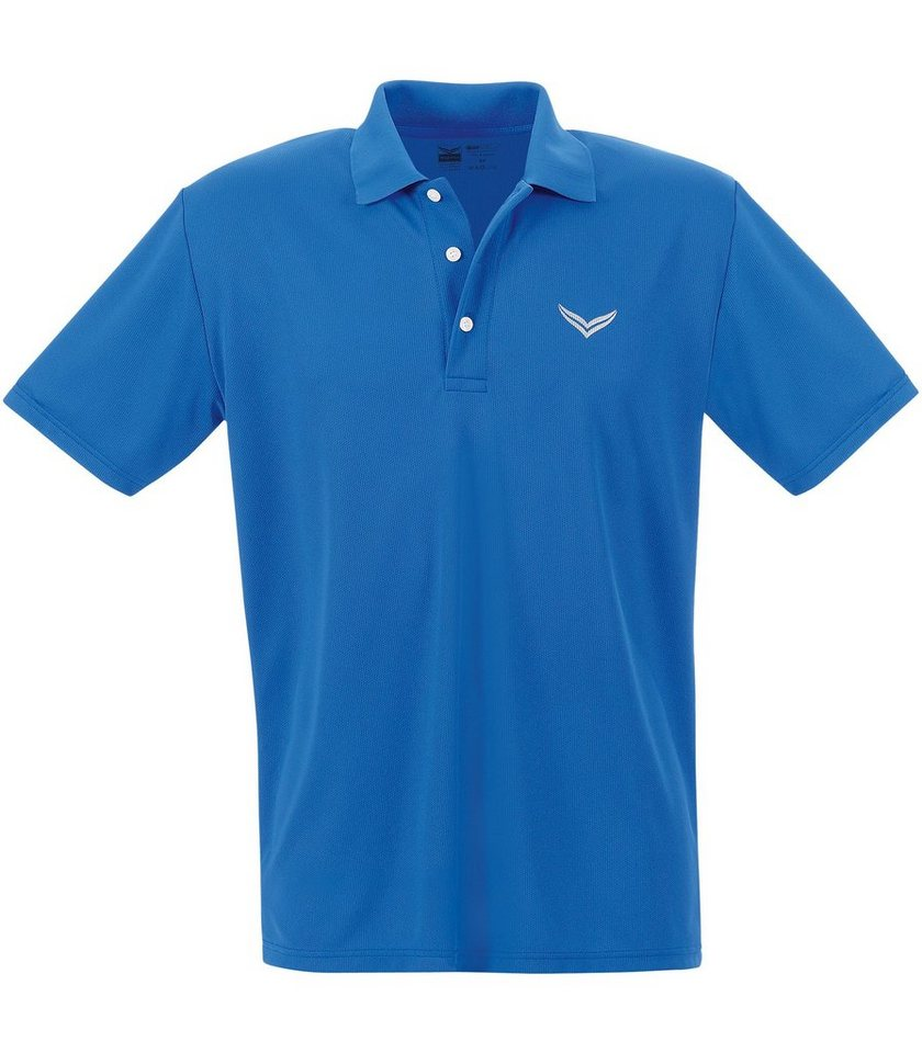 TRIGEMA Klassisches Polo-Shirt COOLMAX in electric-blue
