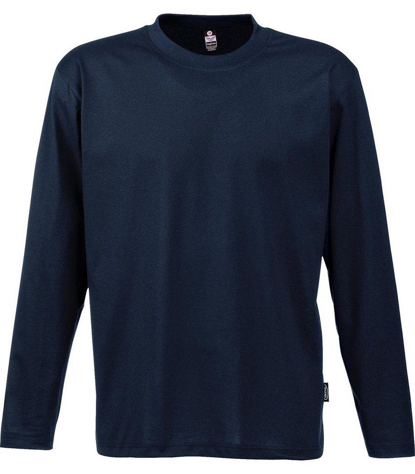 TRIGEMA Langarm Shirt 100% Baumwolle in navy