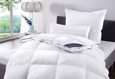 Daunenbettdecke, »Jonas«, Hanse by RIBECO, Füllung: 90% Daunen, 10% Federn, Bezug: 100% Baumwolle, Schlafkomfort fürs ganze Jahr!