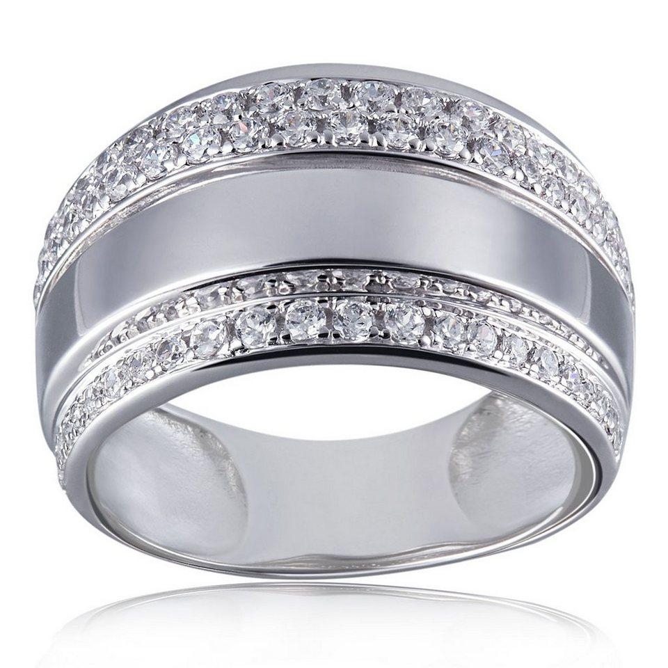 goldmaid Damen-Ring 925 Sterling Silber Romance 72 weiße Zirkonia in silberfarben