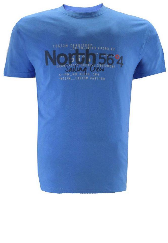north 56 4 T-Shirt in Blau