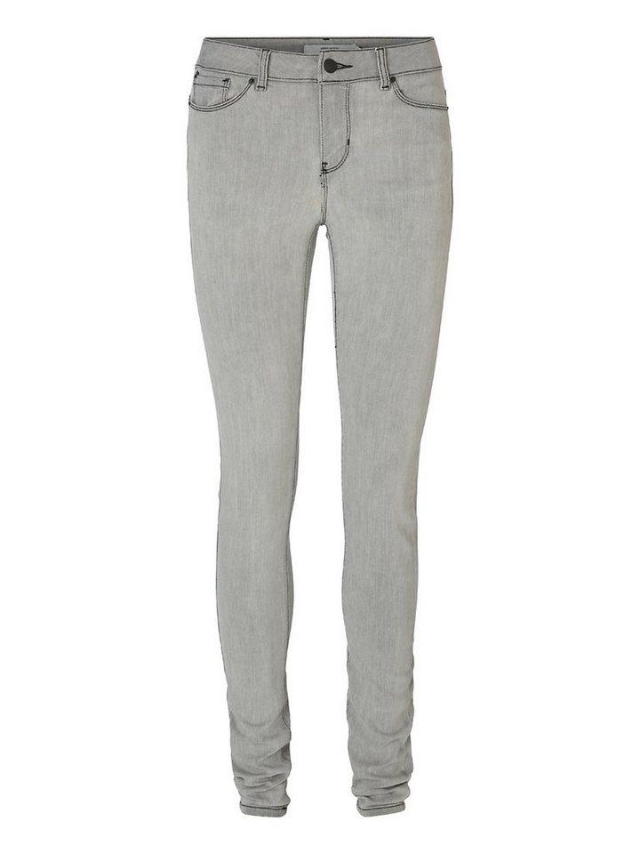 Vero Moda Seven NW Glatte Jeggings in Light Grey Denim