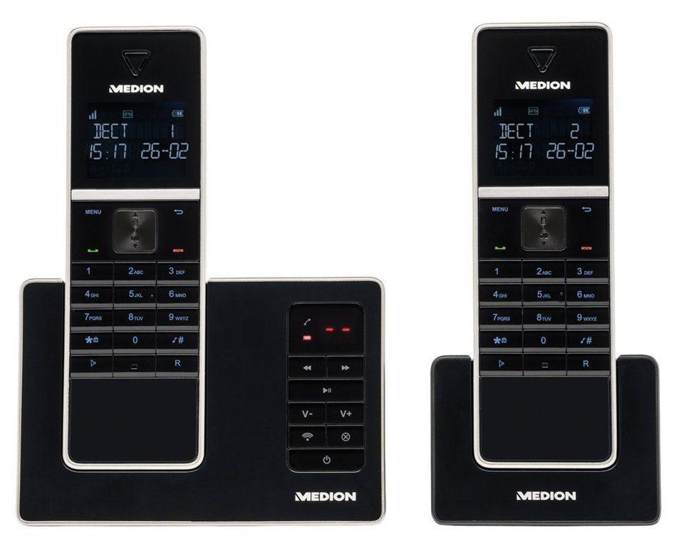 MEDION® DECT Telefon mit 2 Mobilteilen »P63040 (MD 84902)«