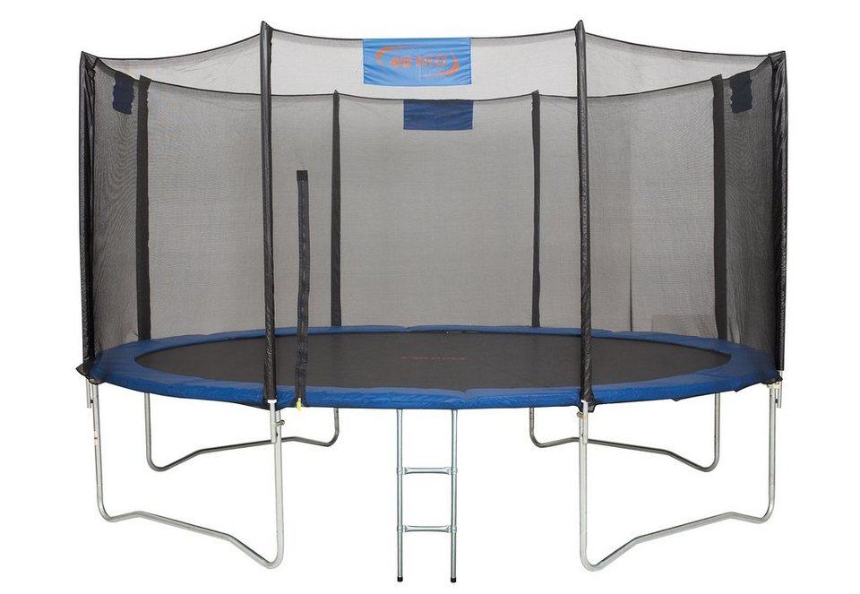 4uniq trampolin 366 cm inkl sicherheitsnetz und. Black Bedroom Furniture Sets. Home Design Ideas