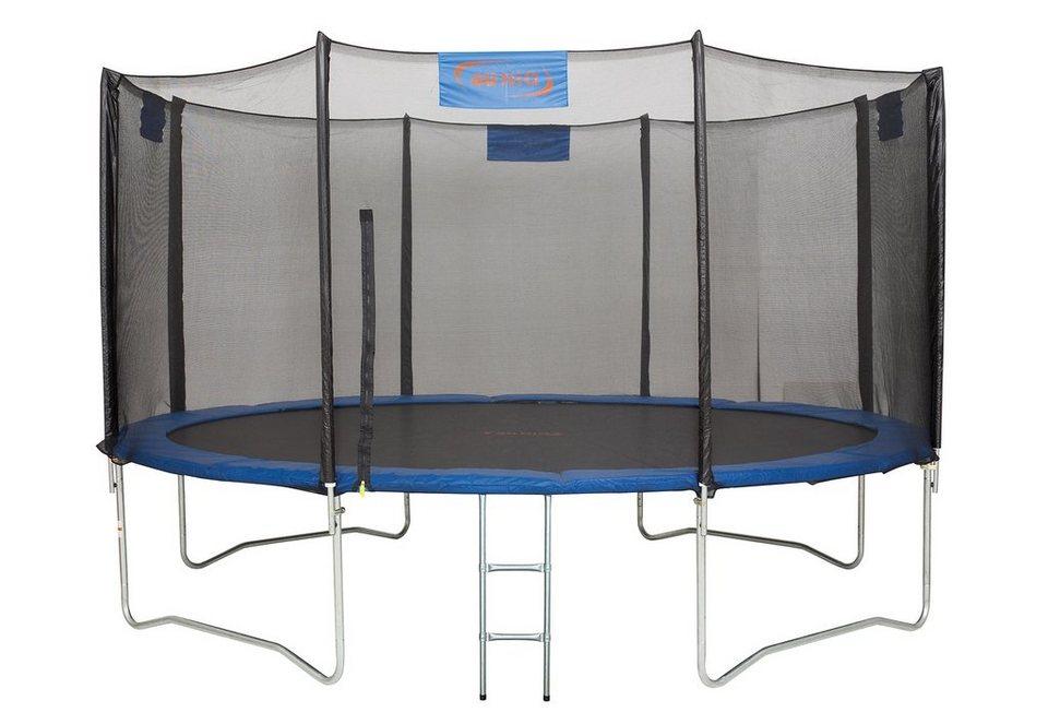 4uniq trampolin 426 cm inkl sicherheitsnetz und leiter blau schwarz online kaufen otto. Black Bedroom Furniture Sets. Home Design Ideas