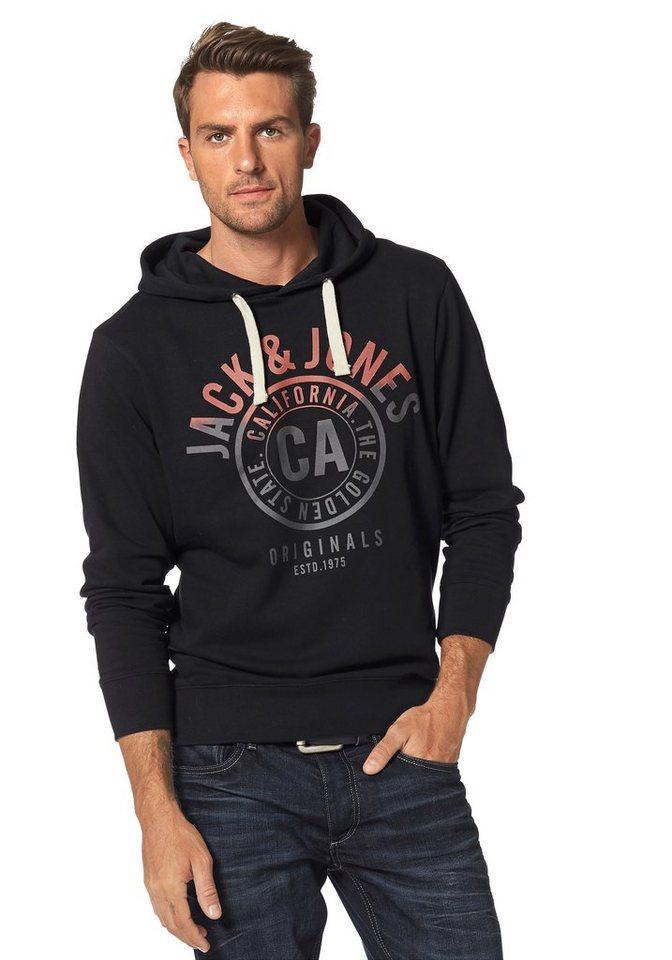 Jack & Jones Kapuzensweatshirt in schwarz