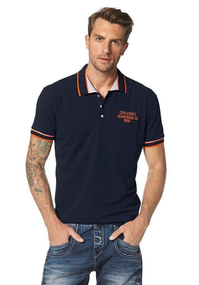 Cipo & Baxx Poloshirt in navy