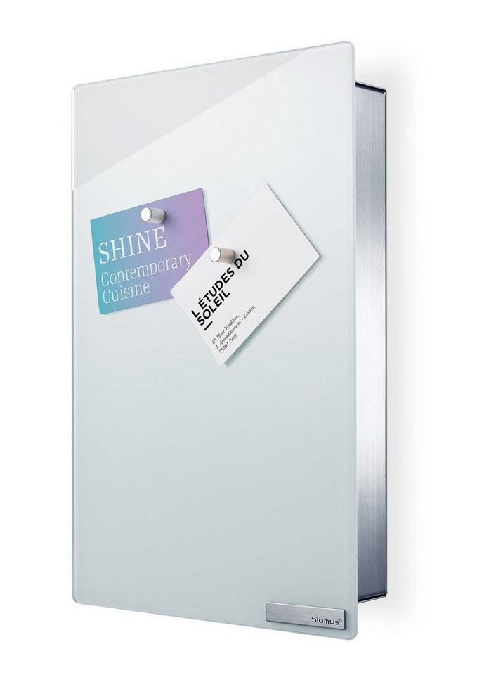 Blomus Schlüsselkasten/Glasmagnettafel in weiß