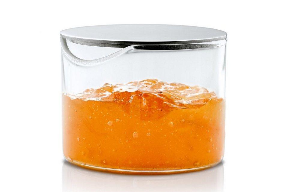 Blomus Marmeladenglas, »BASIC« in Klarglas, Deckel silberfarben