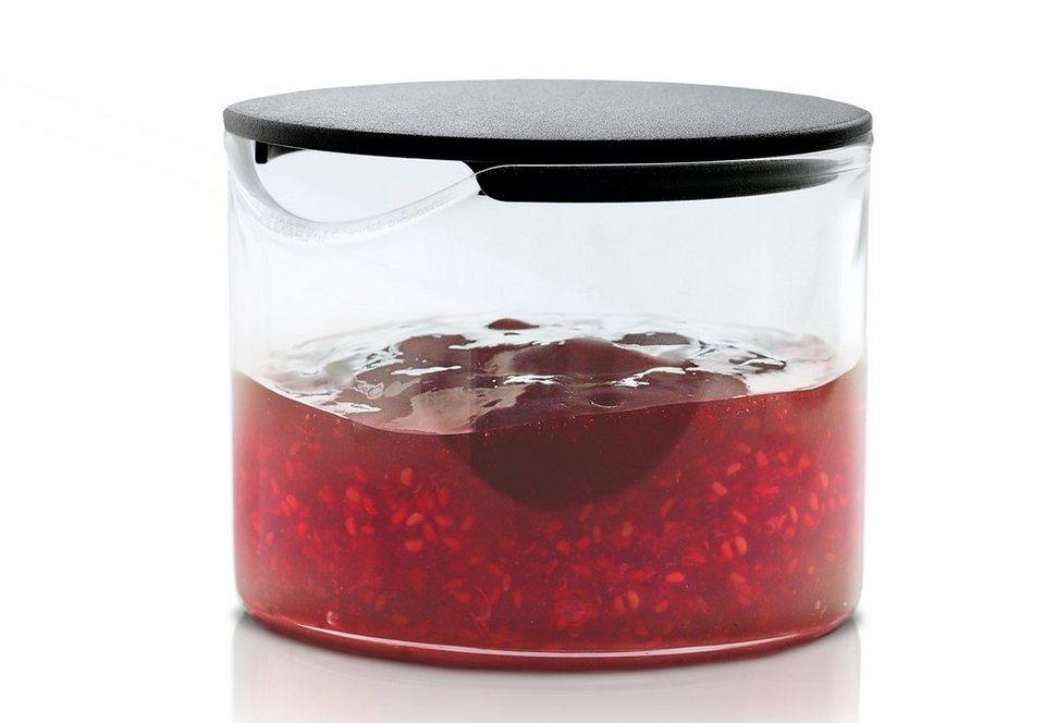 Blomus Marmeladenglas, »BASIC« in Klarglas, Deckel schwarz
