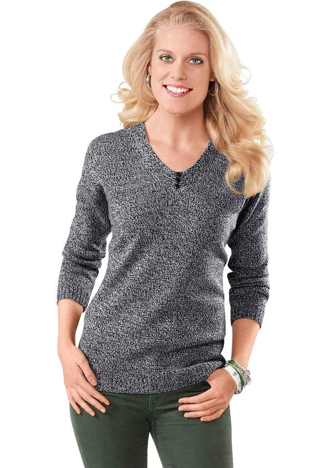 Pullover in grau-schwarz