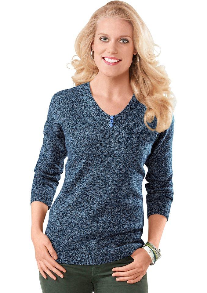 Pullover in blau-schwarz