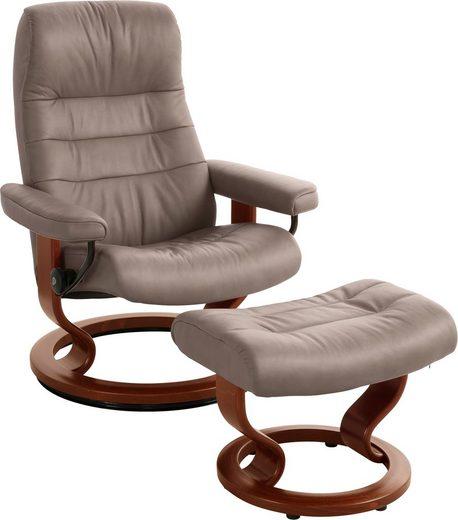Stressless® Relaxsessel »Opal« (Set, 2-St., Relaxsessel mit Hocker), mit Hocker, mit Classic Base, Größe M, mit Schlaffunktion