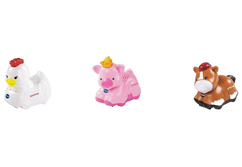 VTech Tiere-Set, »Tip Tap Baby Tiere« (3tlg.)