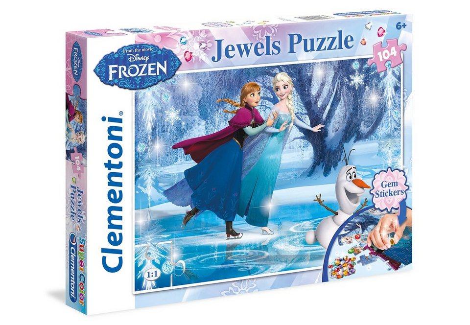 Clementoni Puzzle 104 Teile »Disney Frozen - Jewels«