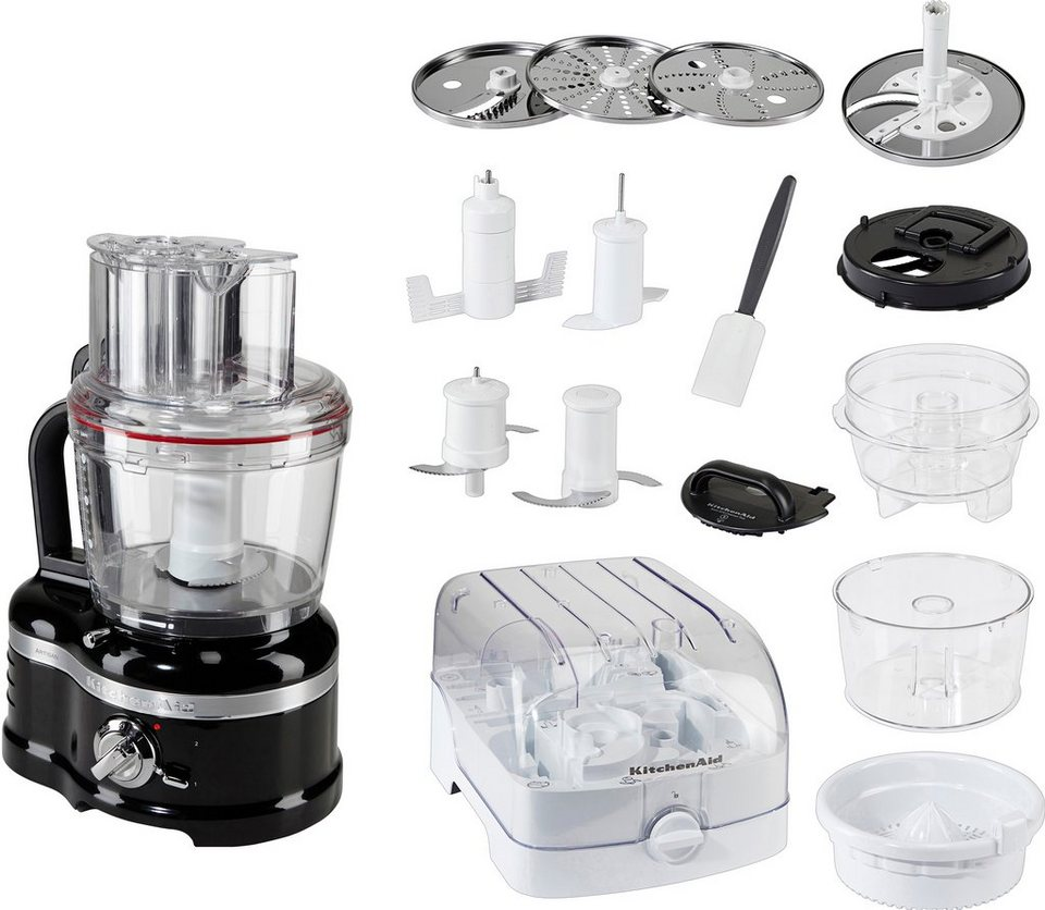 4 Liter KitchenAid Food Processor Artisan 5KFP1644EOB in onyx schwarz