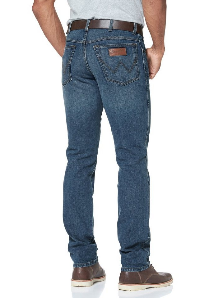Wrangler Stretch-Jeans »Texas« Original Straight (Set, mit Gürtel) in stone-washed