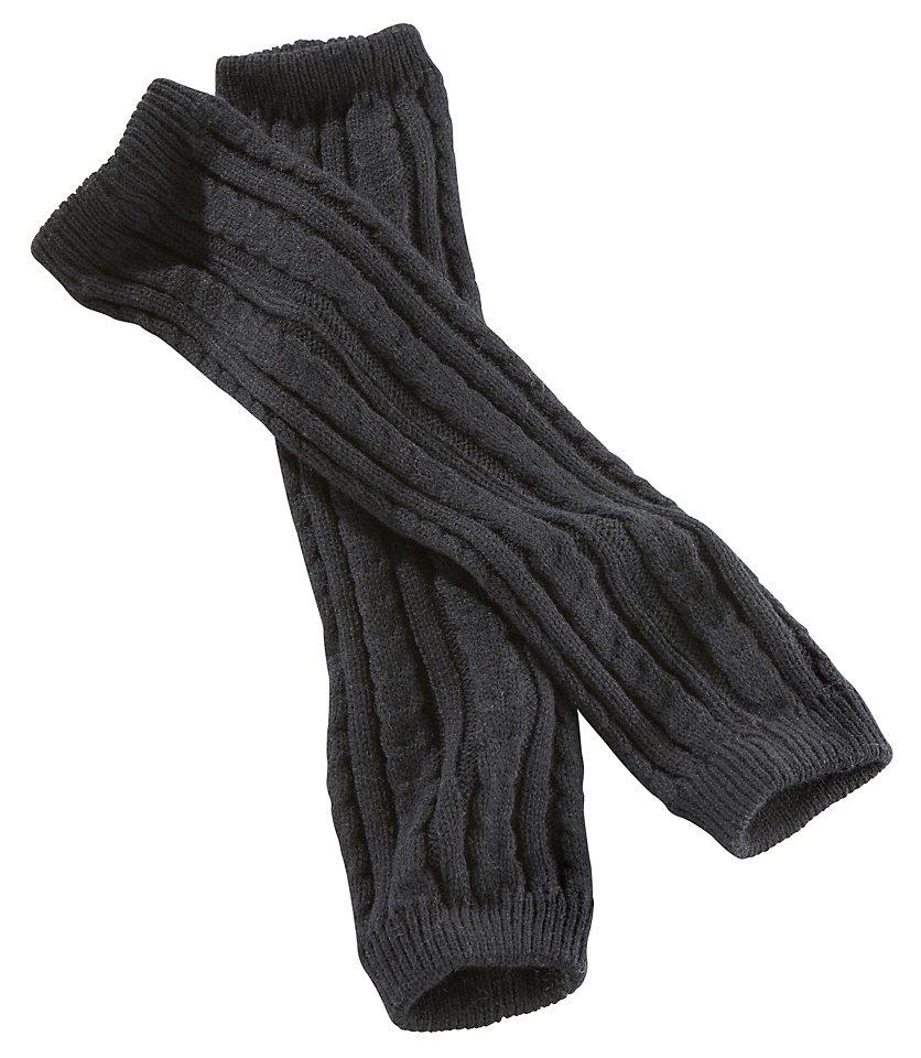 J. Jayz Beinstulpen mit Zopfmuster in schwarz
