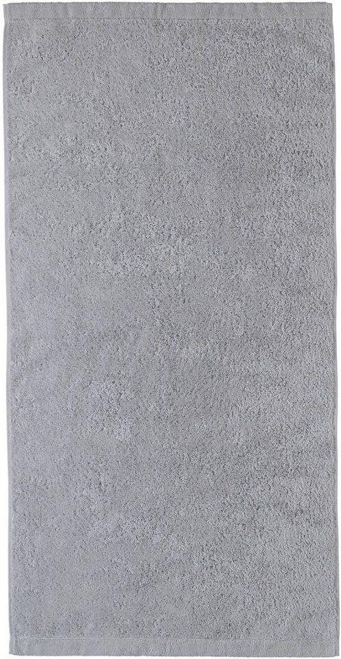 Handtücher, Cawö, »Lifestyle Uni«, aus 100% Baumwolle in platin