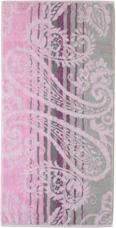 Badetuch, Cawö, »Noblesse Paisley«, mit Paisley-Design in magnolie