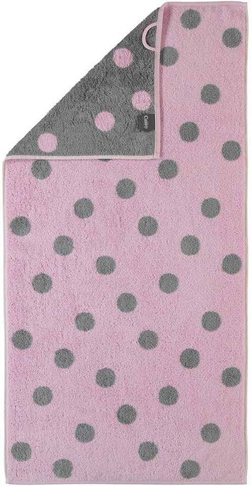 Badetuch, Cawö, »Große Tupfen«, mit Punkten in rosé