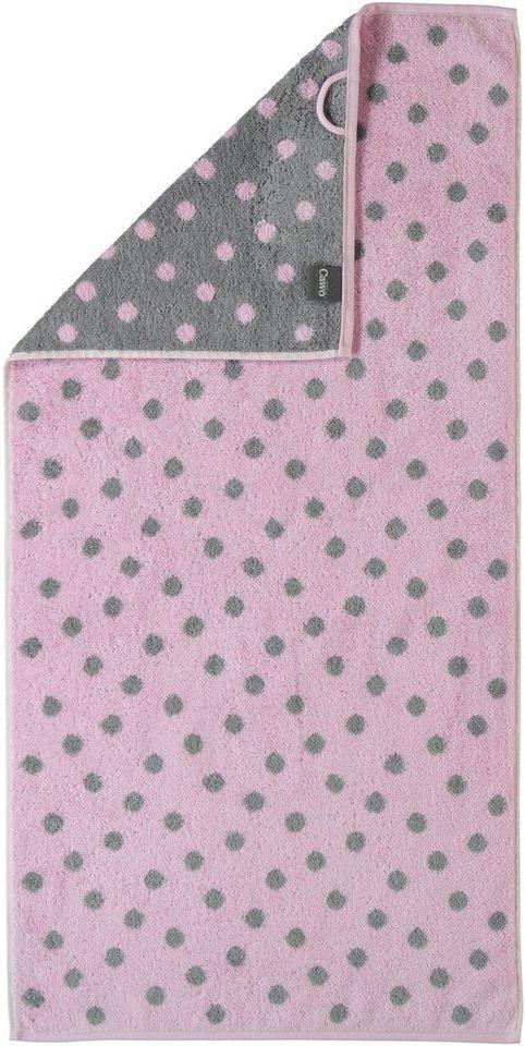 Badetuch, Cawö, »Kleine Tupfen«, mit Punkten in rosé
