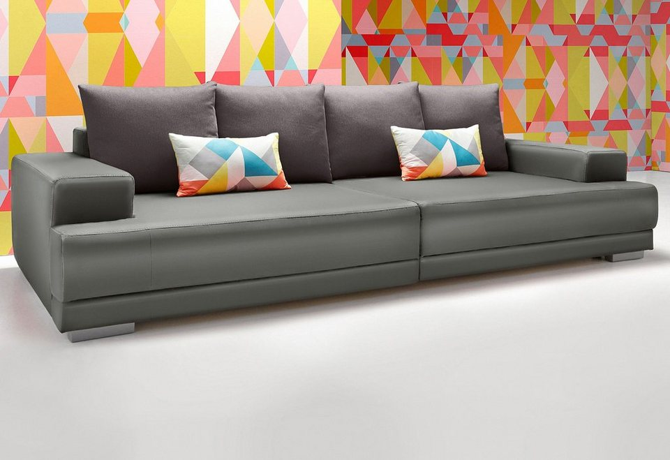 INOSIGN Big-Sofa in fango/grau