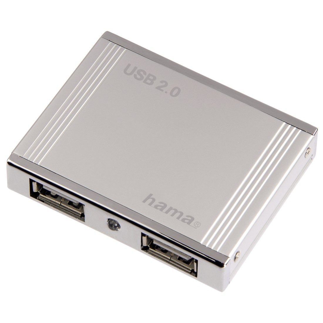 Hama USB-2.0-Hub 1:4 Aluminium, bus-powered, Silber