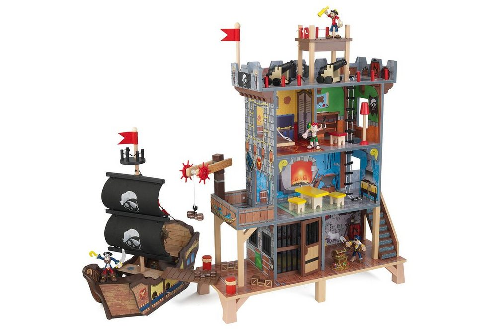 KidKraft®, Spielhaus mit 4 Etagen, Zubehör, Licht & Sound »Piratenbucht«