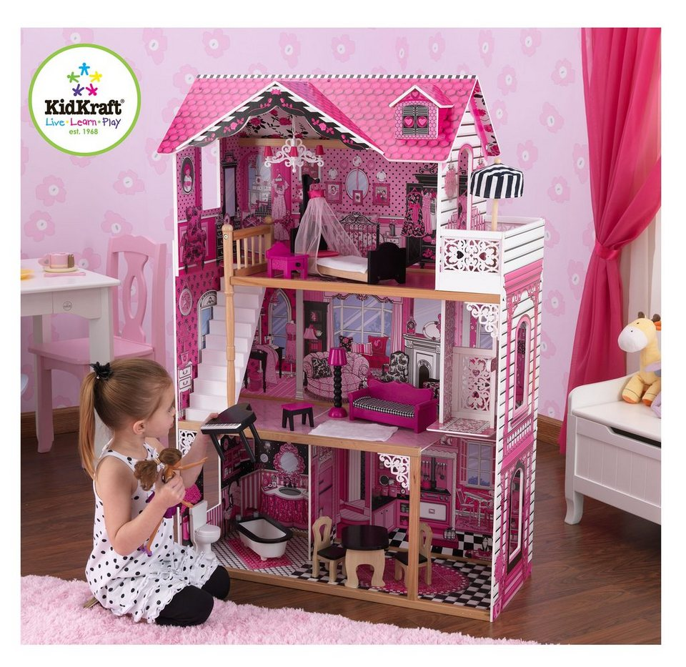 kidkraft puppenhaus mit 3 etagen amalia kaufen otto. Black Bedroom Furniture Sets. Home Design Ideas