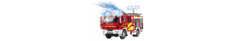 Dickie Feuerwehrauto mit Wasserspritze, Licht und Sound, »Iveco Fire Engine«