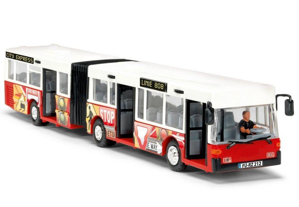 Dickie Spielauto mit Friktionsantrieb, »City Express Bus« in rot