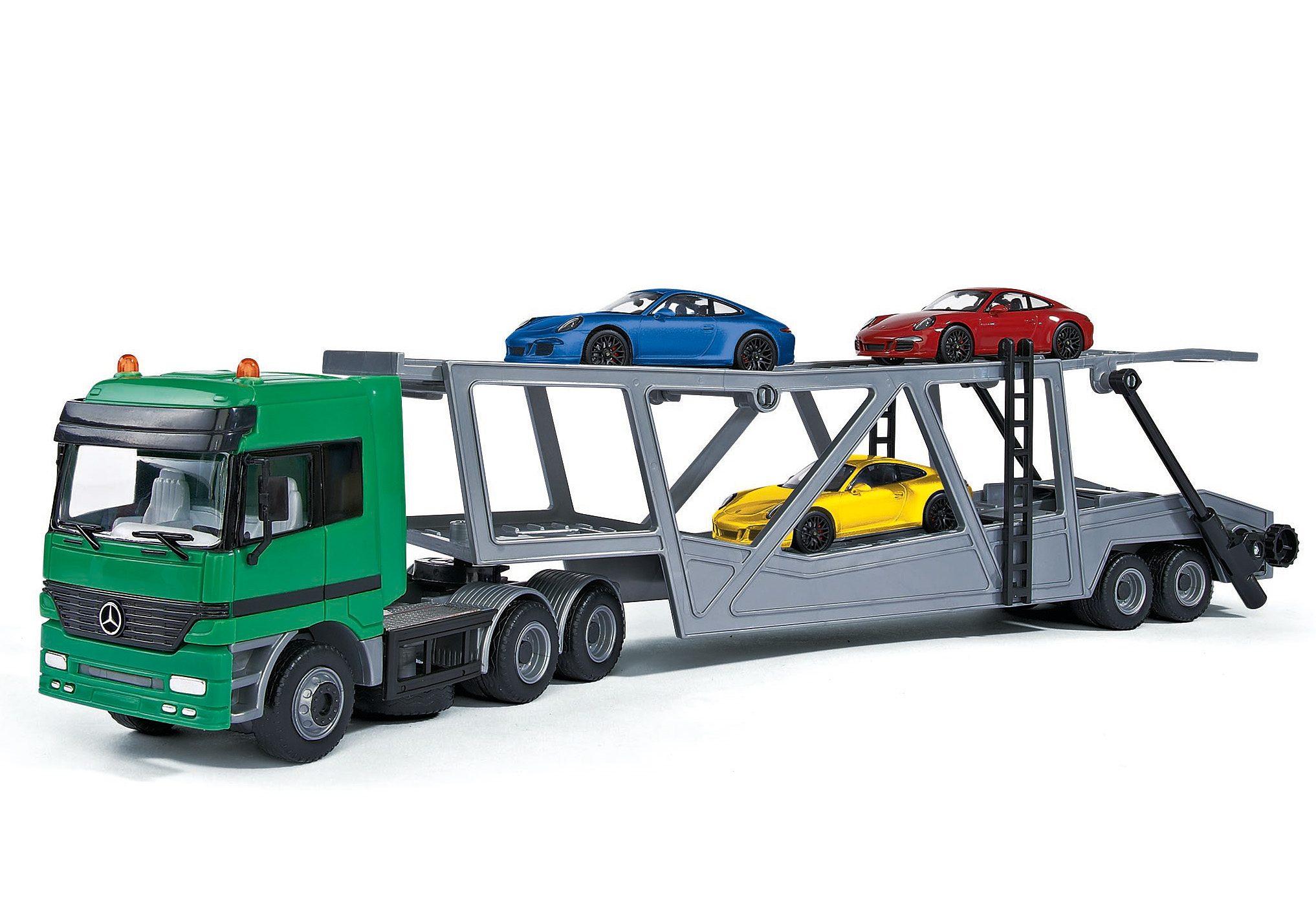 Dickie Spielzeugauto mit 3 Zusatzfahrzeugen, »Auto-Transporter Set«