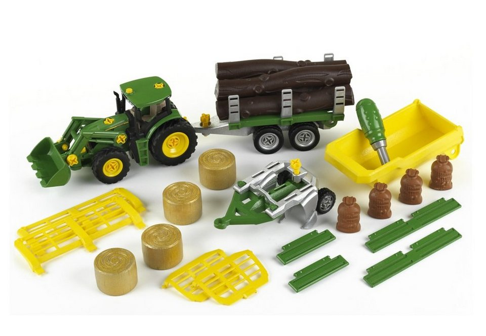 klein spielset john deere traktor mit anh nger und. Black Bedroom Furniture Sets. Home Design Ideas