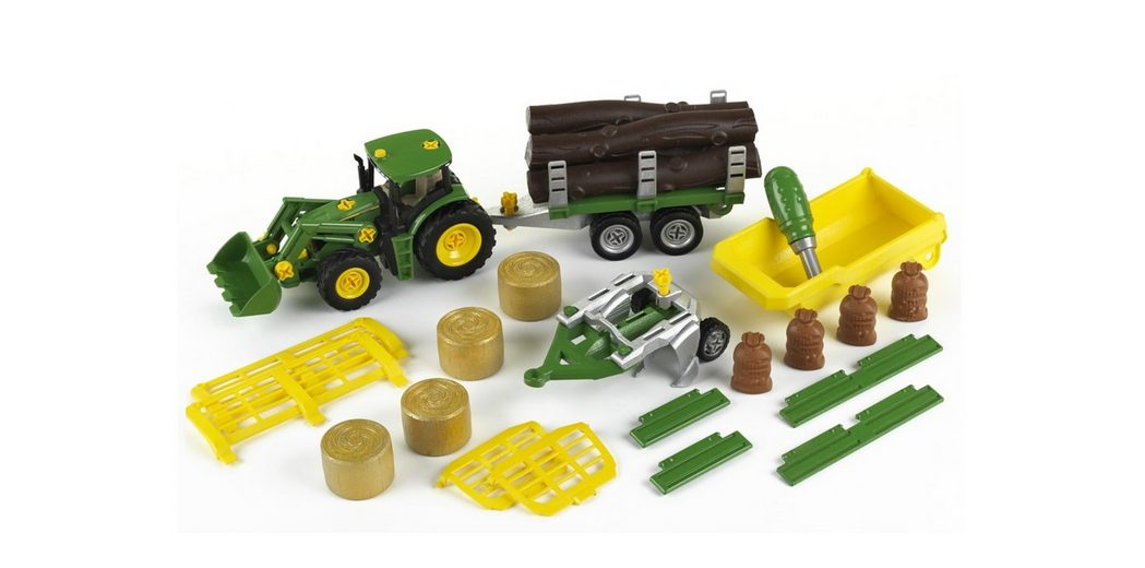 Klein Spielset, »John Deere - Traktor mit Anhänger und Zubehör«