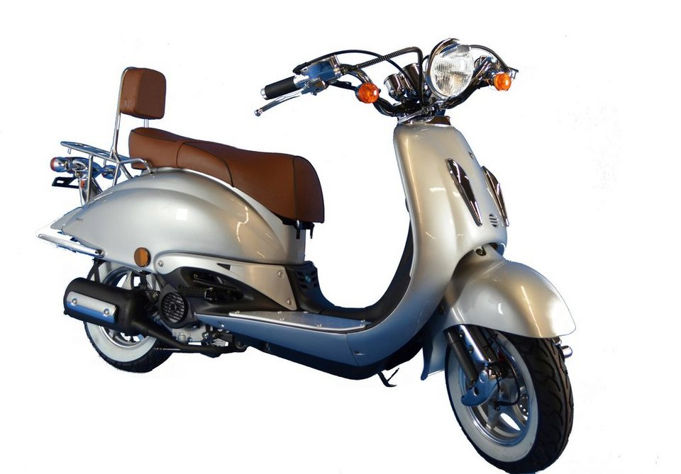 Motorroller »Strada«, 50 ccm, 45 km/h in silberfarben