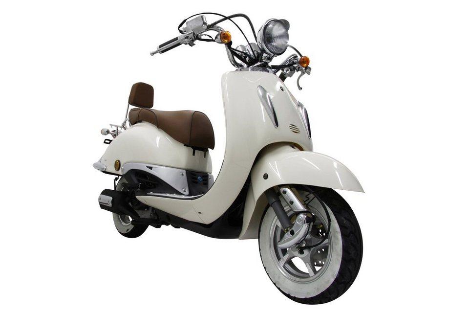 Motorroller »Strada«, 50 ccm, 45 km/h in weiß