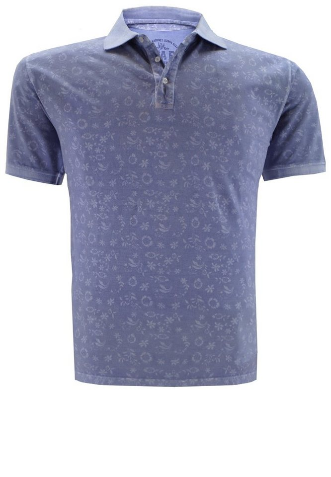 kitaro Poloshirt in Denim Blue