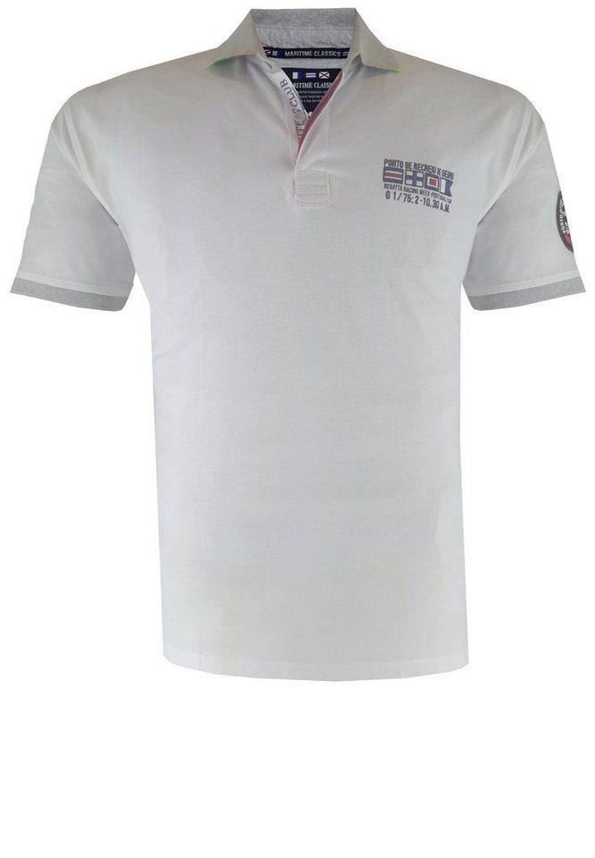 kitaro Poloshirt in Weiß