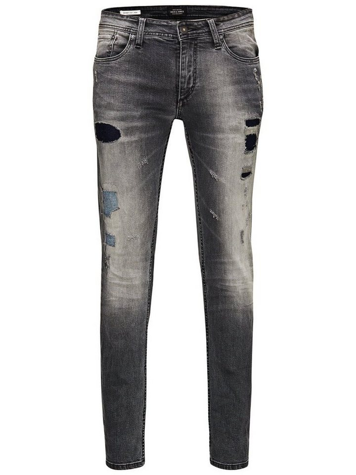 Jack & Jones Ben Original SC 392 Röhrenjeans in Grey Denim