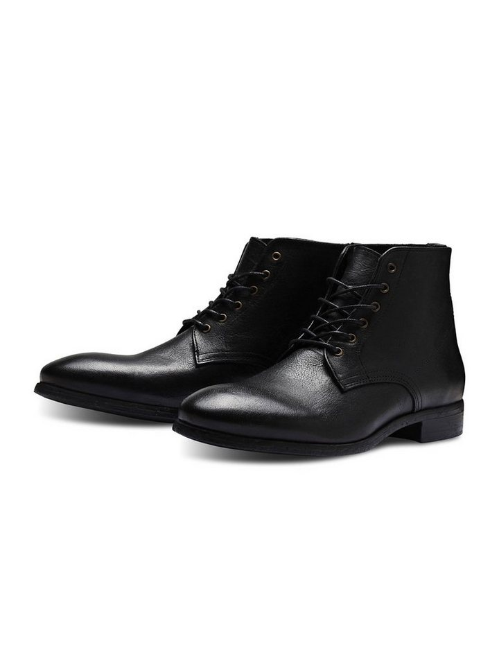 Jack & Jones Klassische Chelsea- Lederstiefel in Black