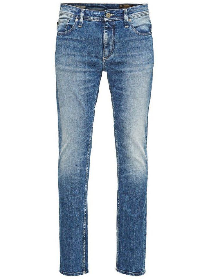 Jack & Jones Ben Original SC 311 Skinny Fit Jeans in Blue Denim